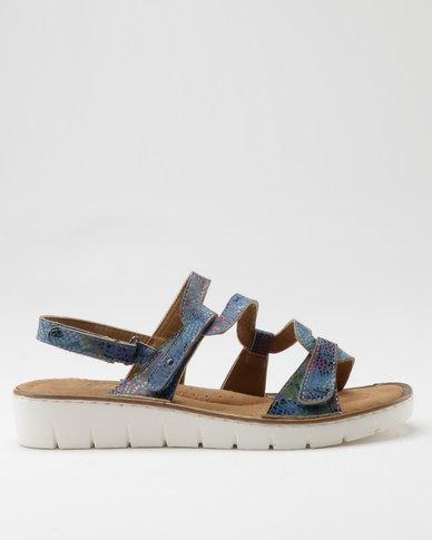 Shoe Art Wonder Sandal Blue Print
