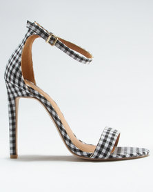 Public Desire Avril Gingham Barely There Sandal Multi