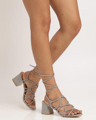 9e0477dd5e6 Public Desire Freya Strappy Heeled Sandal Grey
