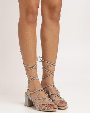 2aee6fc47b9 SALE -34%. Public Desire Freya Strappy Heeled Sandal Grey