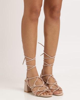 1b23601bb90 Public Desire Freya Strappy Heeled Sandal Pink