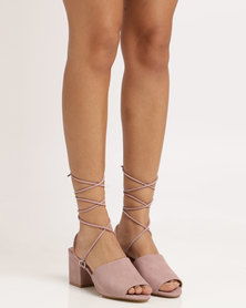 Public Desire Paddington Strappy Heeled Sandal Purple