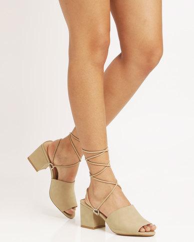 dbff1d37575 Public Desire Paddington Strappy Heeled Sandal Taupe