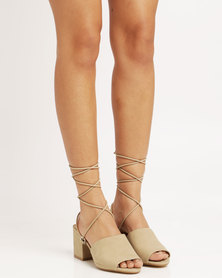 Public Desire Paddington Strappy Heeled Sandal Taupe