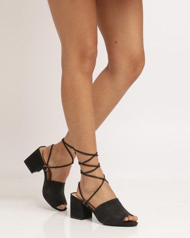 86ddc544d94 Public Desire Paddington Strappy Heeled Sandal Black