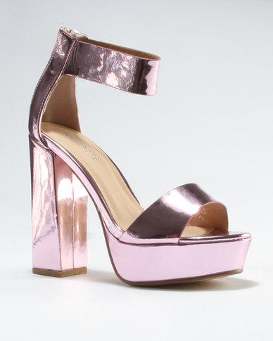 1f5810b767f0 Public Desire River Platform Heeled Sandal Pink