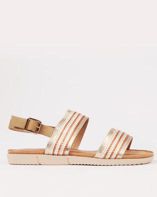 a6ff40a0401d Butterfly Feet Helena Beaded Flat Sandal Gold