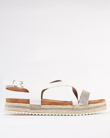 Miss Black Reyling Flat Sandal White
