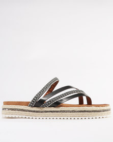 Miss Black Angel Flat Sandal Black