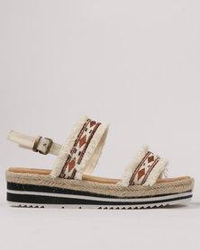 Footwork Taraji Flat Sandal Beige