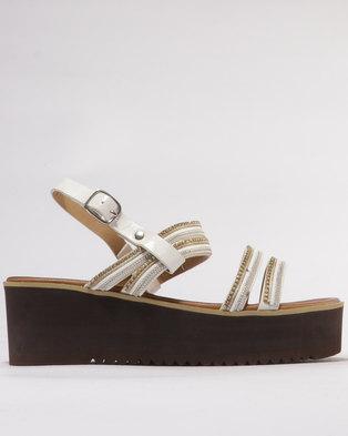 35b7025c87c Utopia Trimmed Flatform Sandal White