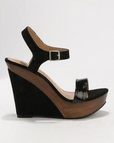 Utopia Sexy Wedge Sandals Black