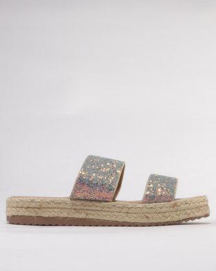 6dbcdece12f6 Utopia Glitter Espadrille Sandals Pewter