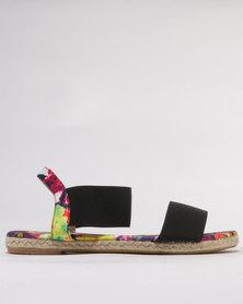 Utopia Printed Elastic Sandals Fuchsia