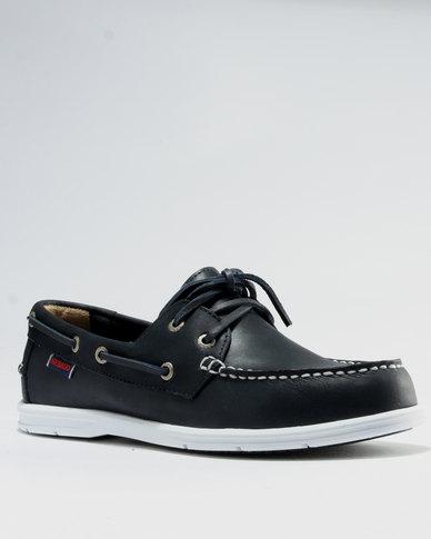 Sebago Sebago Leather Litesides Two Eye Casual Shoes Navy cheap sale Cheapest 8YSrpY7Ebz