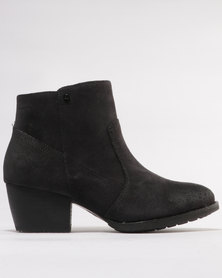 Caterpillar Cider Leather Ankle Boots Black