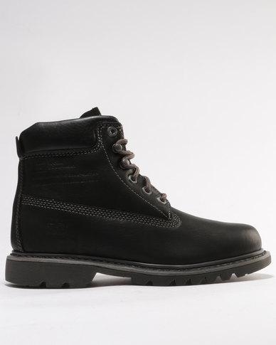 Caterpillar Bruiser Leather Casual Boots Black