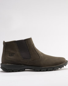Caterpillar Hoffman Leather Casual Boots Dark Gull Brown