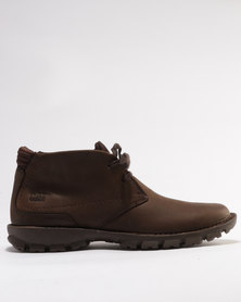 Caterpillar Mitch Leather Casual Boots Dark Brown