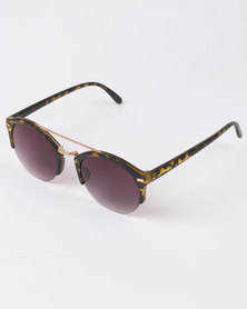 Utopia Semi-Rimless Sunglasses Brown