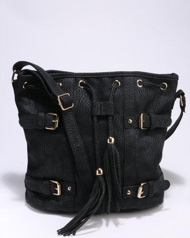 7540a5e1cc30 Utopia Drawstring Bag Black