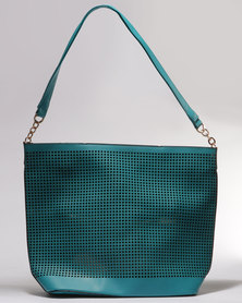 Utopia Pin Punch Shopper Teal