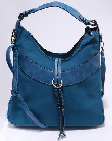 e367452740 Utopia Suede Tassel Handbag Blue