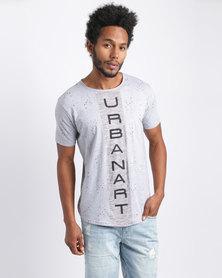 Urban Art Vertical T-Shirt Grey