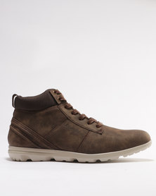 Urbanart Taito 4 Casual Lace Up High Top Sneakers Chocolate