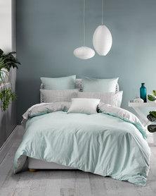 Linen House Meiko Duvet Cover Set Green