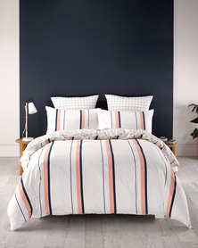 Linen House Sol Duvet Cover Set Peach