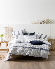 Linen House Hailey Duvet Cover Set Blue