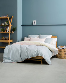 Linen House Norman Duvet Cover Set Blue