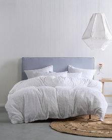 Linen House Fergus Duvet Cover Set White