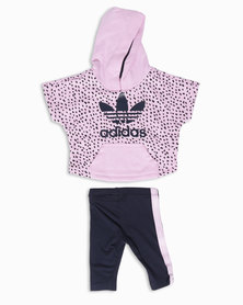 adidas Hooded Flock Set Pink