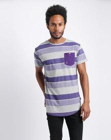 Soul Star T-Shirt Purple Stripe