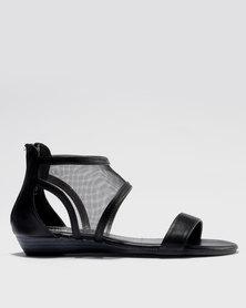Bata Ankle Strap Sandal Black