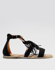 clearance limited edition Bata Bata Ankle Strap Sandal with Stud Detail Black buy cheap fashionable fpZGrvvCNt