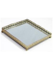 Scroll Square Mirror Tray