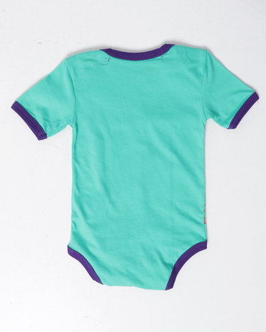 Krag Drag™ - The Strong One™Mint Happie Chappie Babygrow Blue/Green