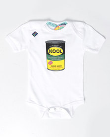 Krag Drag™ - The Strong One™ Kool Babygrow White
