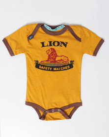 Krag Drag™ - The Strong One™ Lion Babygrow Yellow