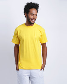 Fruit of the Loom Mens Value Weight T-Shirt Sunflower