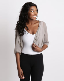 UB Creative Georgette Bolero Grey