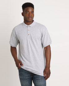 Utopia 100% Cotton Pique Polo Tee Grey