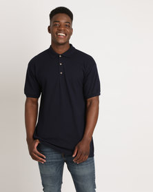 Utopia 100% Cotton Pique Polo Tee Navy