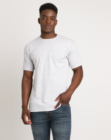 Utopia 100% Cotton T-Shirt Grey Melange