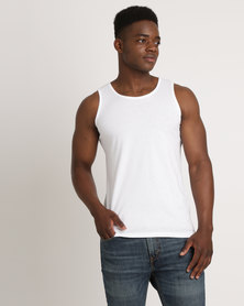 Utopia 100% Cotton Slim Fit Vest White