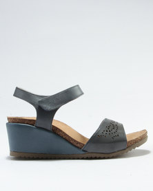 Step On Airs Judy Wedge Sandal Grey