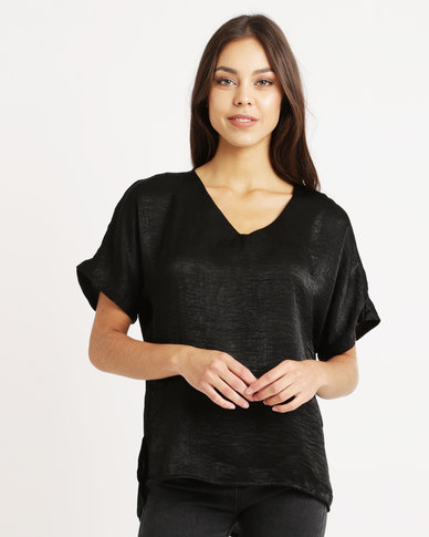 Utopia Satin T-Shirt Black